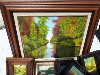 Rustiek schilderij