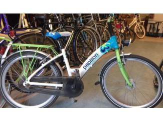 24 inch Bike fun Papillon totaal aluminium met terug traprem,3 Ne
