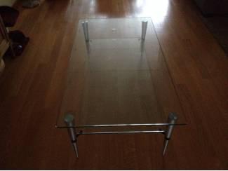 Salon tafel met gelaagd glas 12mm