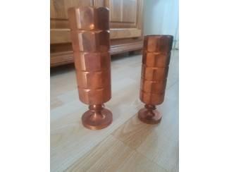 Twee mooie koperen vazen