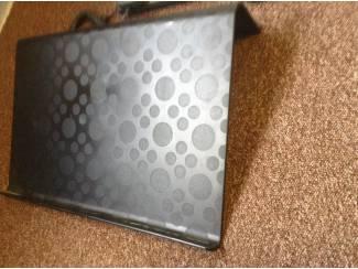 Laptop houder ,kleur zwart ,grijs ,gespikkeld met design