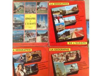 4 BOEKEN;LA GEOGRAPHIE de L'EUROPE .4 LIVRES ancien ,