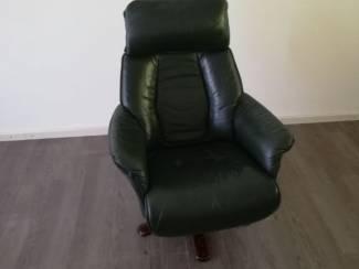 Groene stoel leer