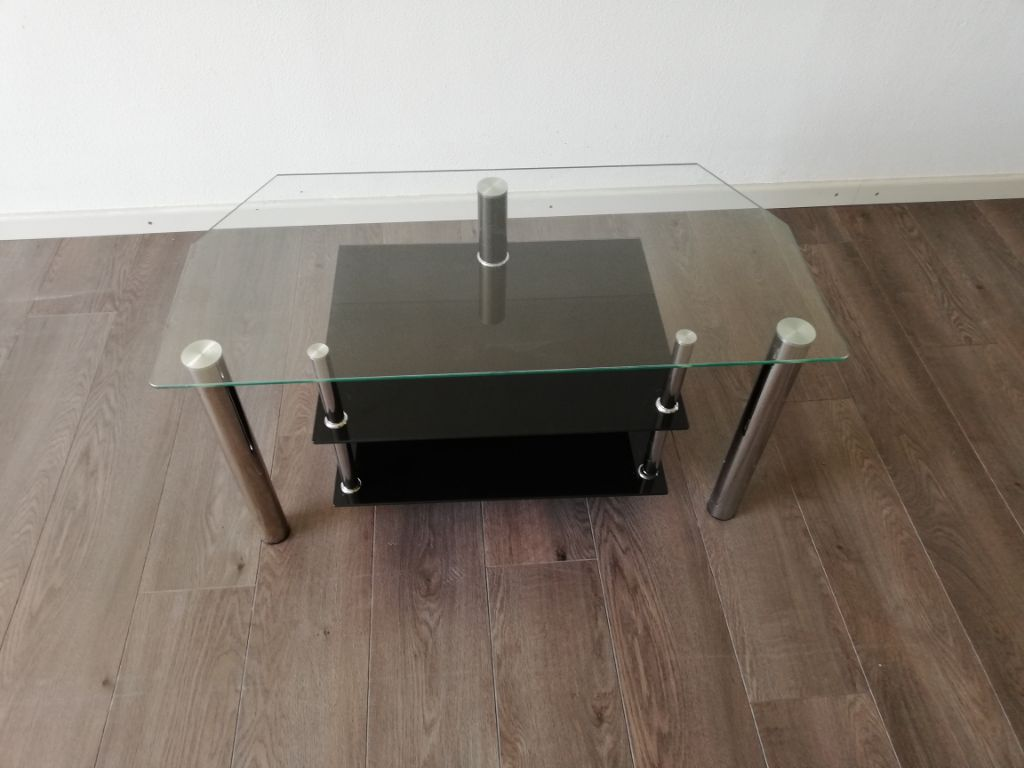 Tv meubel glas zwart