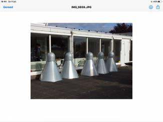 5 kunstwerken (shuttels) ontwerp Johan Wagenaar