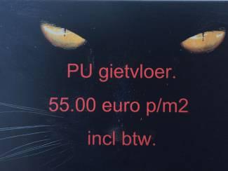 gietvloer pu €55,= p/m2 incl btw
