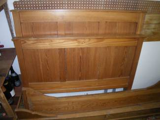 te koop houten twijfelaar bed inclusief matras