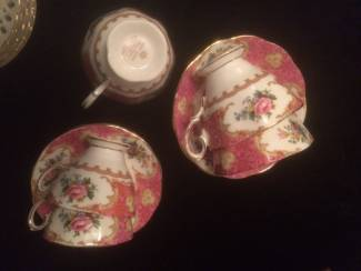 Royal Albert, lady Carlyle 5x kop met schotels