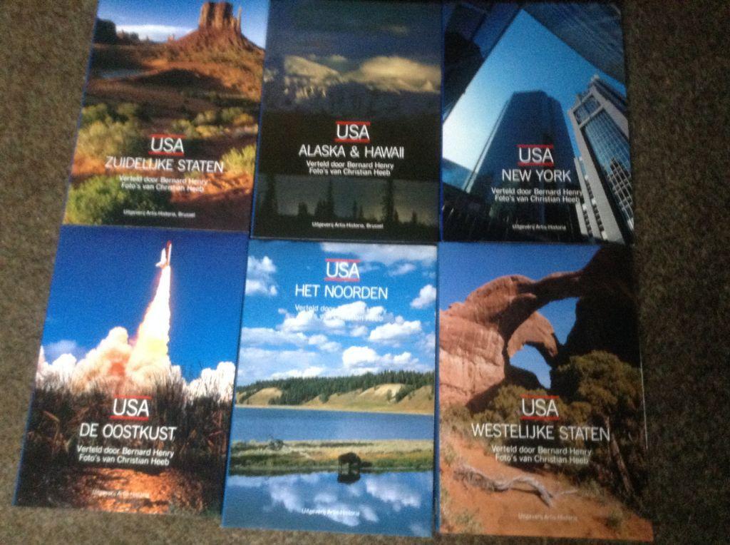 Boeken ; 6 prachtige EXEMPLAREN van het land USA,machtig TOP