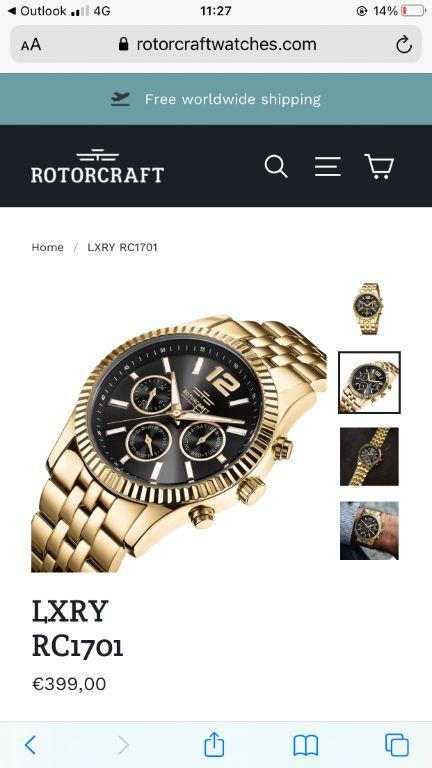 Heren horloge goud
