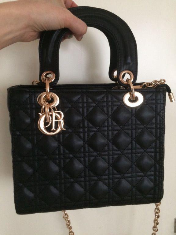 Mooie zwarte tas echt leer splinternieuw Dior J'adore lady b