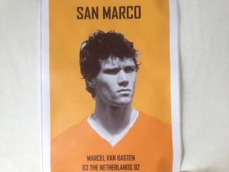 marco (marcel)van basten kwaliteit canvas poster 30x45 8 euro nog