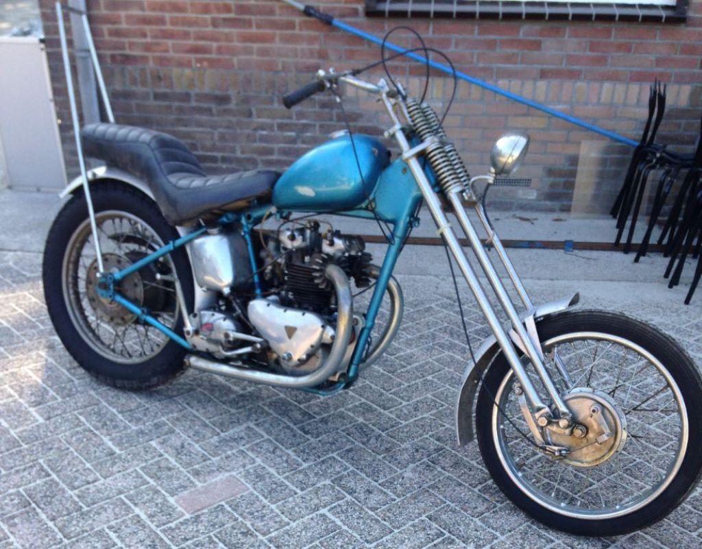 Triumph Tiger 100 easy rider bike