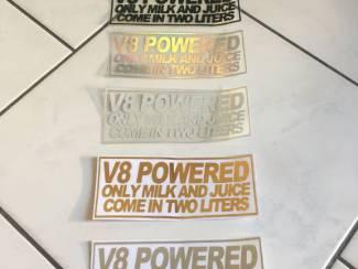 Te koop sticker V8