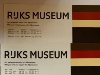 2 x2 toegangskaarten Rijksmuseum te koop