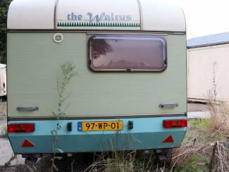 Retro vintage gepimpte caravan