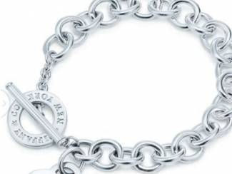 Tiffany & co armband zilver. Goudkleurig.